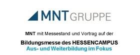 MNT mit Messestand und Vortrag auf der Bildungsmesse des Hessencampus