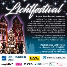 MNT als Sponsor: Limburger Lichtfestival: Limburg erstrahlt — Licht verbindet!